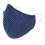 tanzmuster ® Behelfsmaske waschbar für Erwachsene - 100% Baumwolle OEKO-TEX 100 mit...