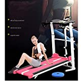 PN-Braes Elektrisches Laufband Fitness-Laufband Mini Folding Ultra-leise Home-Multifunktions-Walking-Maschine Gym Body Equipment Fashion Fitness Laufband (Farbe : Rot, Größe : 100x50x90cm)