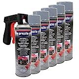 Steinschlag & Unterbodenschutz Spray Hell Grau Presto 6 X 500ml mit Pistolengriff