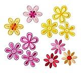 Mono-Quick Nummer 315 Aufbügelbilder Blumen Set, 11 teilig, Blumenmotive, 3,5 x 3,5 cm,...
