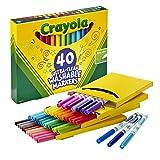 Crayola Ultra Clean waschbare Marker, feine Linienmarker, Geschenk für Kinder, 40 Stück
