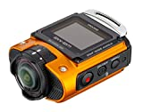 Ricoh WG-M2 kompakte und leichte Actioncam (4K-Video, 204 Grad Ultraweitwinkel-Objektiv) orange