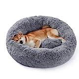 UMI by Amazon Hundebett Plüsch weich warm Donut Haustierbett für Hund Flauschiges...