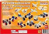 rcee Metallbaukasten Bausatz 15-in-1 Modelle Baufahrzeuge 500 Teile Baustelle Flugzeug...