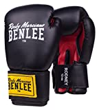BENLEE Rocky Marciano Boxhandschuhe Pu Training Gloves Rodney, Schwarz/Rot, 14