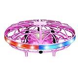 KOET Fliegende Helikopter Handsteuerung LED-Licht RC Drohne Indoor Outdoor Verschleißfest...