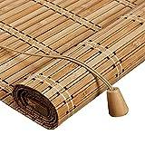 Retro Bambus Rollo Jalousine Bambusrollo,50-140cm Breit Bambus Raffrollo,Natur...