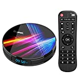 Bqeel Android TV Box 4K Smart tv Box【4G+32G】 R1 PRO Android 9.0 TV Box mit RK3318 Quad-Core 64bit Cortex-A53/ unterstützt WiFi 2.4G/5.0G /Bluetooth 4.0/ 4K/HD/ USB 3.0/H.265 Android Box