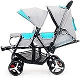 BESTPRVA Kinderwagen Neugeborenes Wagen Infant Doppel Infant Trolley, Zwillingskinderwagen...