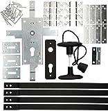 KOTARBAU® Garagenschloss 60 mm Stahl Set Torschloss Garagentorschloss Profilzylinder für...