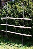 Hirsch Terracotta Rankgitter aus Holz/Metal stabil und freistehende Dekoration für den...