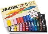 Honsell 47412 - Jaxon Ölpastellkreide, 12er Set im Kartonetui, brillante, lichtechte...