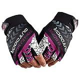 Jtinalay Half-Finger Handschuhe Half Finger Lightweight Breathable Climbing Rope...