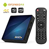 Android TV Box【4G + 64G】, NinkBox Android 9.0 TV Box N1 Max RK3318 Quad-Core 64bit Cortex-A53, unterstützt Bluetooth 4.0/WLAN 2.4G/5.0G /4K HD/ USB 3.0 Smart tv Box Android Set-top-Box