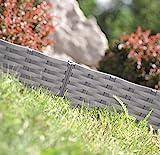 Rasenkante Gartenpalisade Beeteinfassung Beetumrandung 3,9m Rattan-Optik 3 Farben von...