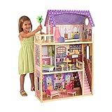 KidKraft 65092 Puppenhaus Kayla aus Holz mit Möbeln und Zubehör, Spielset mit drei...