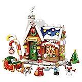 DIY Puppenhaus Bausatz Miniatur Kit Miniatur Villa, Weihnachten Snowy Night Cottage DIY...