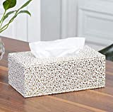 WBFINC Wbfincfeines Leder Tissue Box Mode Pu-Leder Papier Box Home Dress Up Hotel Liefert - Silber