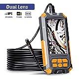 ILIHOME Dual-Kameras Endoskopkamera, Doppelkamera Dual Lens 4,5 Zoll IPS Bildschirm...