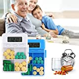 Electronic Timing Reminder Medizin Box, 4 Grid Pill Reminder mit Alarm, Remind Pill Box, Medikamenten Reminder
