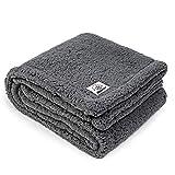 ALLISANDRO hochwertige Hundedecke 【M 80x60cm】 Graue Decke Fleecedecke Sehr Soft Warm Premium...