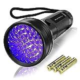 Vansky UV Schwarzlicht Taschenlampe mit 51 LEDs   Haustiere Urin-Detektor für...