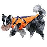 GWELL Hund Hundejacke Wasserdicht Fleece gefüttert Regenjacke Winterjacke Funktion Weste...