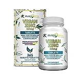 Pharmavital Vegan Zinc (365 Tabletten Jahresvorrat) - 25 mg Zink aus Bisglycinat...