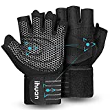 ihuan Belüftete fitness handschuhe mit Handgelenkband-Unterstützung für Herren und...