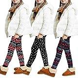 Libella Kinder Thermo Legging Mädchen Jungen Warm Winterlegging Weihnacht Fleece Dicke...