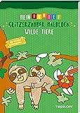Mein bunter Glitzerzauber Malblock. Wilde Tiere: Mit bunten Glitzerseiten (Malbücher und...