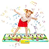 Shayson Piano Matte, 100*36 cm Klaviermatte 8 Instrumente Sounds 10 Keys Keyboard 9 Demo,...