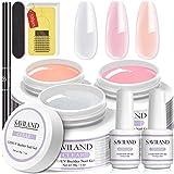 Saviland Builder Nail Gels Kit - 3pcs * 30g Clear Nude Pink Hartgel für Nägel Extension...