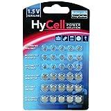 HyCell 30 x Knopfzellen-Sparset Alkaline / Je 5x LR621 LR736 LR626 LR1130 386A. LR1154 /...
