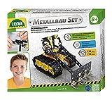 Lena 42674 - Metallbau Set Schaufellader mit 216 Teilen, Metall Bausatz inklusive Werkzeug...