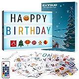 A4 LED Lichtbox mit Fernbedienung Leuchtkasten Lightbox Leuchtbox mit 452 Buchstaben...
