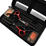 Haircut Friseurscheren-Set, 15,2 cm, Schwarz/Rot