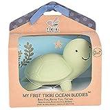 Tikiri Naturkautschuk Rassel in Geschenkbox, Schildkröte, Badewannenspielzeug, für Babys...