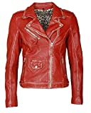 JCC Damen Bikerjacke Im Used-Look 51300 Red 38