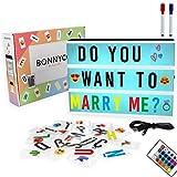 Light Box mit Farbwechsel, 300 Buchstaben und Emojis, Fernbedienung, 2 Stifte - BONNYCO  ...