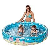 NET TOYS Kinder-Pool im Peppa Pig Look - Blau 122 x 23 cm - Schönes Kinder-Badespielzeug...