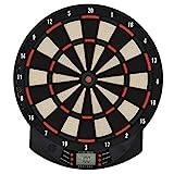 HOMCOM Elektronische Dartscheibe Dartboard Dart-Set mit 6 Darts 30 Dartköpfe 26 Spiele...