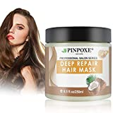 Haarmaske, Hair Mask, Hair Treatment, Conditioner Haarkur, Argan oil & Keratin Haarkuren strapaziertes und trockenes Haare, Hair Mask für gefärbte Haarpflege & Haarglättung, 250 ml