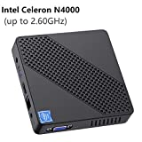 Mini PC Lüfterlos Intel Celeron N4000 (bis zu 2,6 GHz) 4GB DDR4/64GB eMMC Mini-Desktop-Computer Windows 10 Pro HDMI- und VGA-Anschluss 2,4/5,8 G WiFi BT4.2 3xUSB3.0-Unterstützung Linux, M.2 2242 SSD