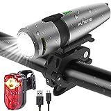 PUTARE 【2020 Neuestes Modell】 Fahrradlicht Set, USB Wiederaufladbare Fahrrad Licht,Mit...