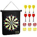 COMF Dartscheibe Set Magnetische Dart Board Set Roll Up doppelseitige Dart Board mit 6...
