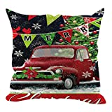 DQANIU Weihnachtsdekoration, Weihnachten Gedruckt Kissenbezug Dekorative Kissenbezüge Dekorative Sofa/Bett/Auto/Coffee Shop Kissenbezug Home Decoration, 45x45cm