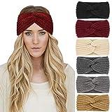 DRESHOW 6 Stück Stirnband Damen Winter Häkeln Stirnbänder Gestrickt Stirnband Kopfband...