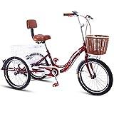 Tricycle for Adults Erwachsene Trike Dreirad Mit DREI Rädern Senioren 20 Zoll Einstellbar...
