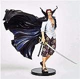 LUALU Biegbare Actionfiguren One Piece Figur Shanks Hands-On Modell Puppe Ornamente...